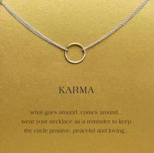 Jewelry - Karma | Silver Circle Necklace